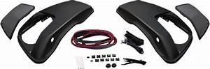 Hogtunes Black Rear Rushmore Saddlebag Speaker Lid Kit 14