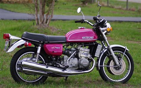 Vintage Kawasaki by Vintage Suzuki Motorcycle Collage