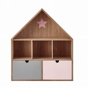Etagere Maison Bois : tag re maison en bois h 53 cm l a maisons du monde ~ Teatrodelosmanantiales.com Idées de Décoration