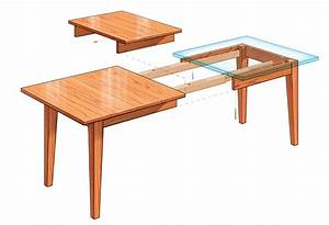 Extension dining table finewoodworking for Extension dining table plans