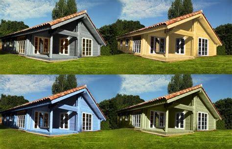 maison bois en kit on quot quelques couleurs de la maison bois louisa 114m2 140m2 avec