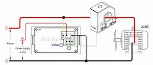 Dc Meter With Current Transformer Bidirectional Current
