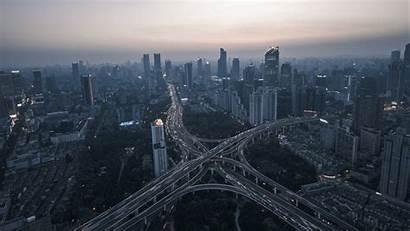 Night Road Aerial Metropolis 4k Widescreen Uhd