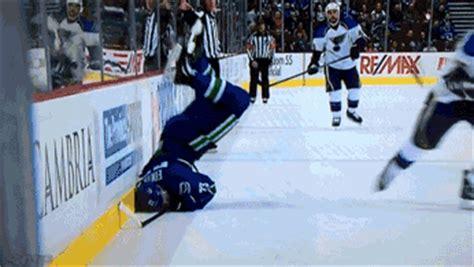 demonstrating  exact wrong   hip check  hockey