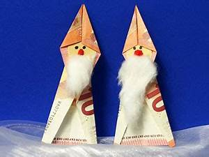Sonnenschirm Aus Geld Basteln : weihnachtsmann aus geldschein basteln gestalten ~ Lizthompson.info Haus und Dekorationen
