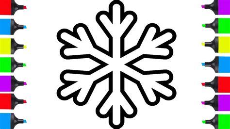 draw christmas snowflake easy  kids coloring