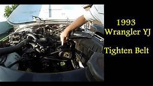 How To Tighten Serpentine Belt 1993 Jeep Wrangler Yj
