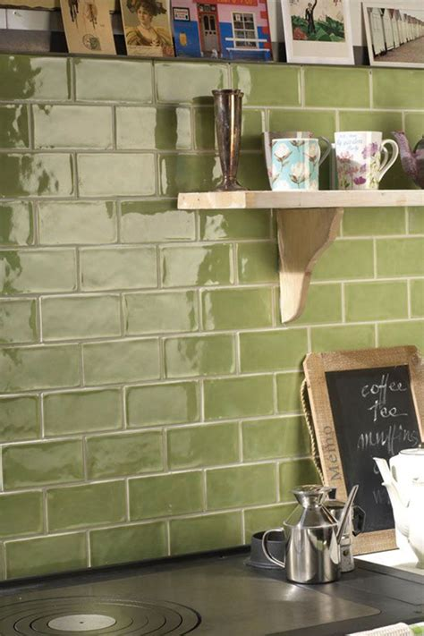 Rustic Olive Green Wall Tiles, Perfect For Kitchen Splash