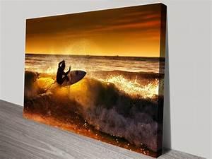 Front Side Canvas Surfing Artwork Print | Wall Art Sydney ...