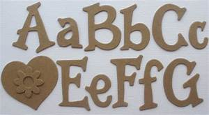 15 fun serif font upper lowercase alphabet letters With chipboard letters