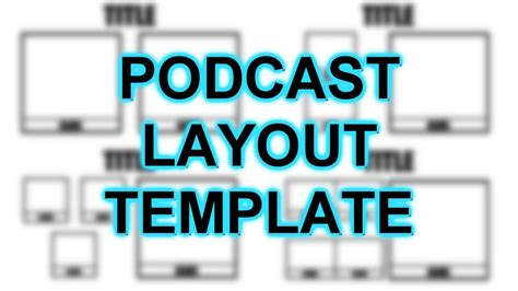 podcast template podcast layout template photoshop