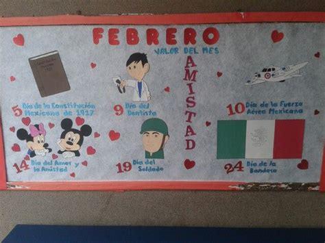 Periódico mural febrero School ideas :D Pinterest Murals