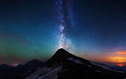 Milky Way Sky Night Aurora Mountain Nature