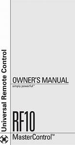 Universal Remote Control Rf10 Users Manual Oce 0046a 130 220