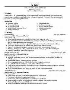 Best Entry Level Finance Jobs Best Journeymen Hvac Sheetmetal Workers Resume Example