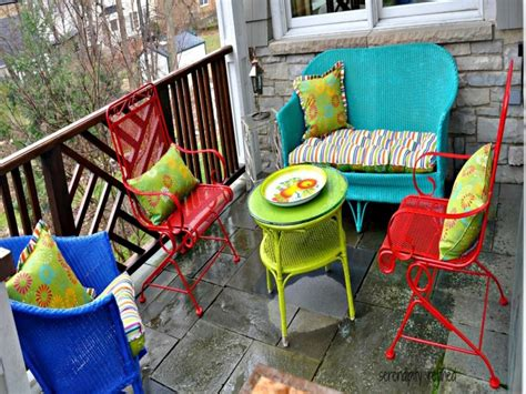 furniture lineup of colorful outside lawn wooden lawn