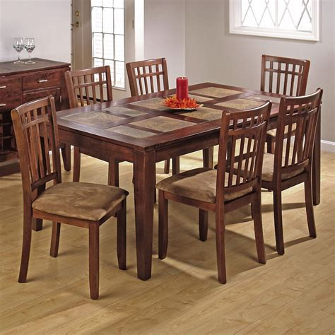 tiled kitchen tables jofran rolanda terra cotta tile dining table and 6 chairs 2794