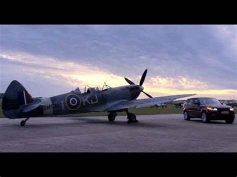 Bugati Vs Plane by Range Rover Sport Vs Spitfire Car Vs Plane At Goodwood