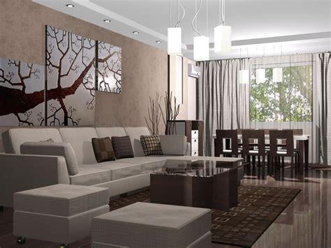 v interior design интериор на хол и трапезария в бежово и кафяво interior