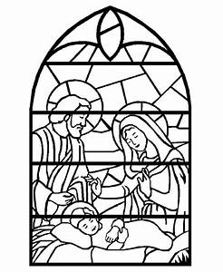 stained glass window coloring pages az coloring pages With christmas stained glass window templates