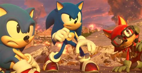 sonic forces trailer features tag team gameplay