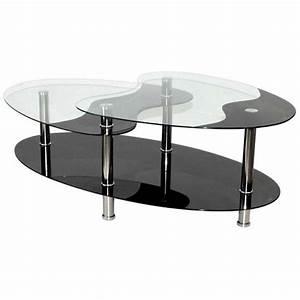 Table Basse Noir : table basse noire en verre 3 plateaux achat vente table basse table basse noire en verre ~ Teatrodelosmanantiales.com Idées de Décoration