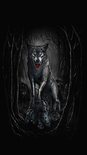 Beast Scary Wolf Wallpaper by Evil Wolf 360 X 640 Wallpapers 1880452 Evil