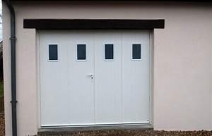 ** JPV AMENAGEMENT ** Le journal: Porte de garage 4 vantaux aluminium