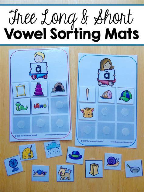 sorting mats  short  long vowels  measured mom