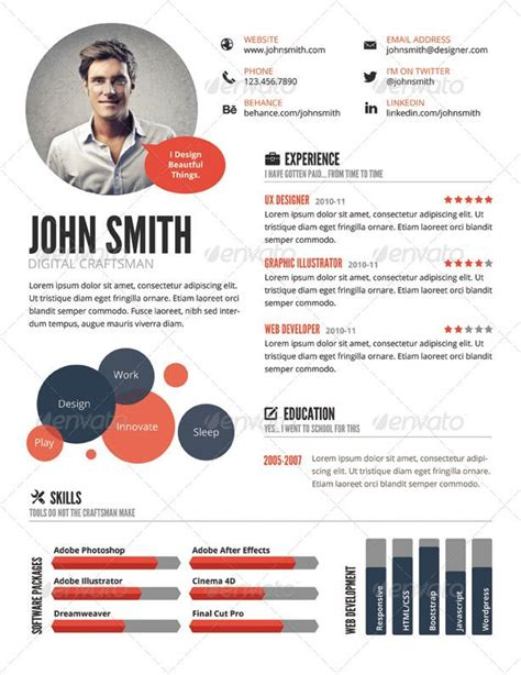 Visual Resume Templates Free by Top 5 Infographic Resume Templates Resume Infographic