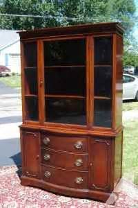 mahogany china cabinet bernhardt 1940 s large for sale in rochester new york