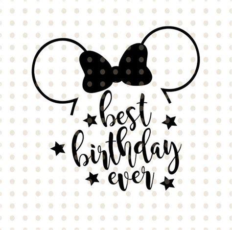 birthday  svg disney shirt custom file birthday shirt minnie ears magic kingdom