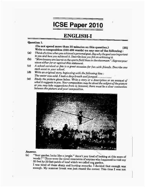 language worksheets for grade 10 icse