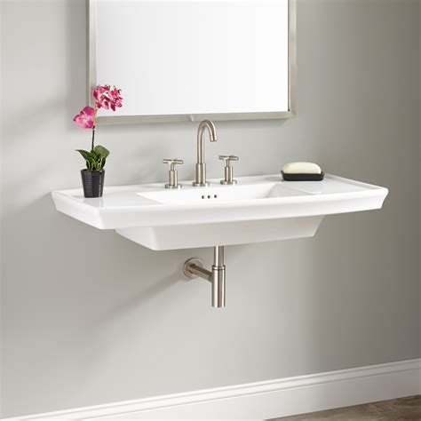 olney porcelain wall mount sink bathroom