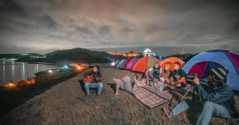 waduk sermo kulon progo spot camping hits  kekinian