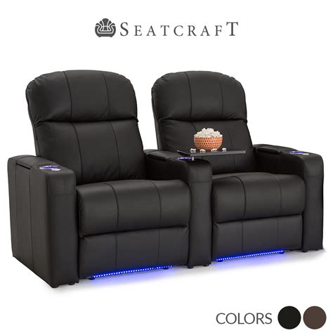 seatcraft venetian bonded leather home theater seating