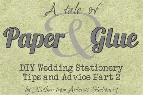 diy wedding invitation glue diy wedding invitation advice paper and glue