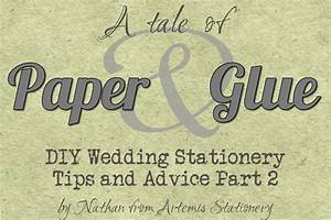 Diy wedding invitation advice paper and glue for Diy wedding invitations glue