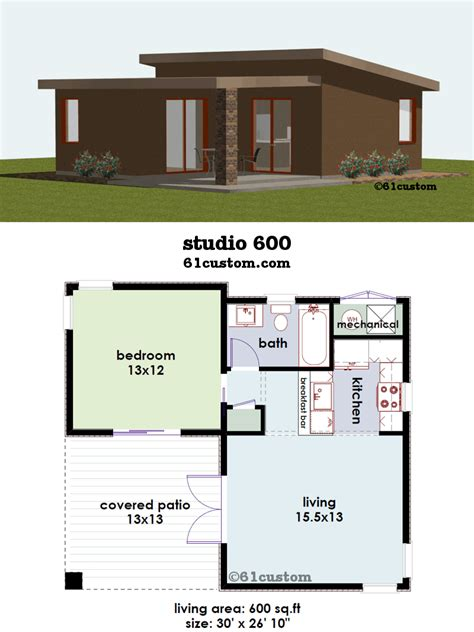 studio small house plan guest house plans courtyard house plans small house plans
