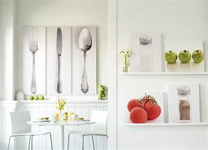 Modern kitchen wall art decoration pictures