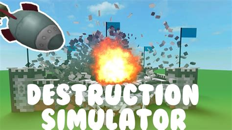 roblox destruction simulator  codes  game youtube