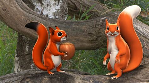Pip The Squirrel 3d Animated Series Full Rotation