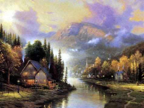 kinkade cottage painting wednesday kinkade