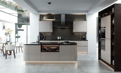 Strada Gloss Modern Cashmere  Kitchen Stori