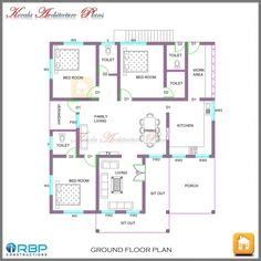architecture kerala  bhk single floor kerala house plan  elevation   house plans