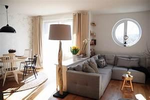 amenagement salon salle a manger reussir la separation With lampadaire salle À manger pour petite cuisine Équipée