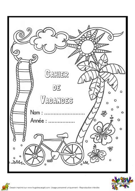 coloriage la couverture dun cahier de vacances