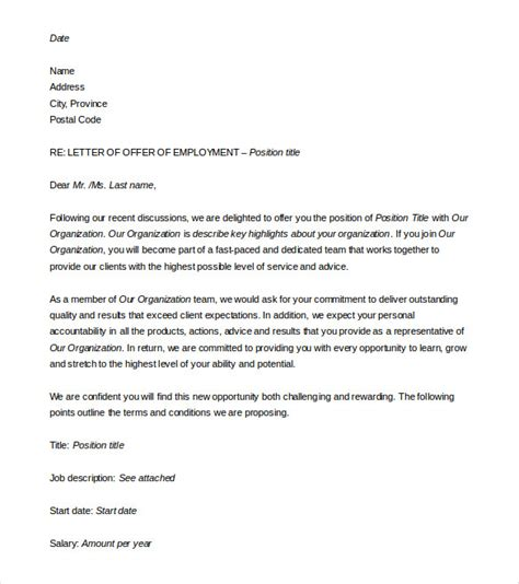 job offer letter template word fee schedule template