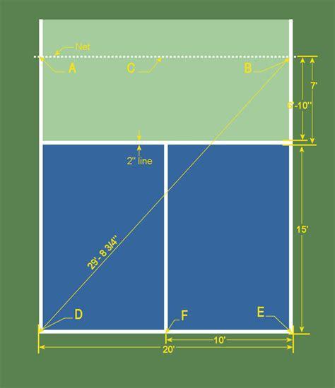 half court tennis court dimensions temporary court setup usapa pickleball