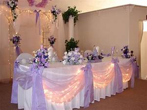 lavender and white head table decor wedding reception With lilac table decorations wedding tables